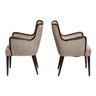 Pair of Osvaldo Borsani Side Chairs, Italy, 1940s For Sale