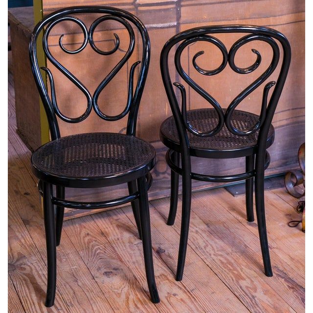 Set of Five Bentwood Bistro Chair For Sale - Image 4 of 7