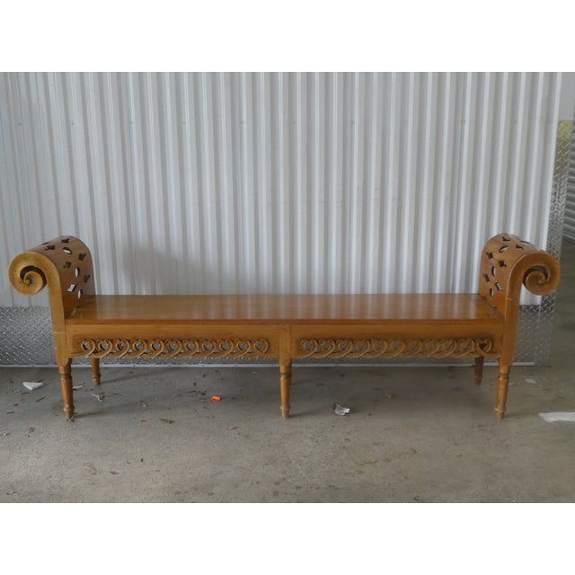 Rare Classic Parish Hadley Albert Hadley Albert's Bench designed in the 1980's from sustainable hardwood hand crafted in...