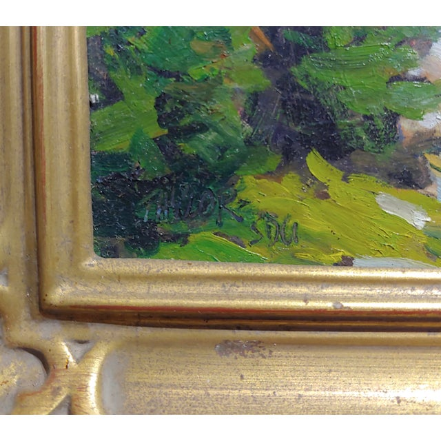 1970s Vintage Taylor Lynde Montana Lake Scenery Oil Painting For Sale In Los Angeles - Image 6 of 10