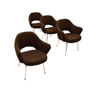 Late 20th Century Vintage Eero Saarinen for Knoll Executive Armchairs - Set of 4 For Sale