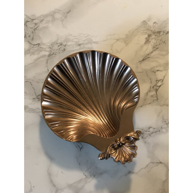 1940s Rose Gold Shell Baptism Tray/Catchall For Sale - Image 6 of 6