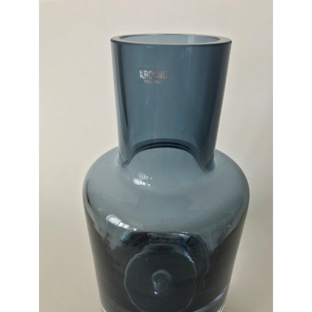 Polish Blue Art Glass Vase - Image 5 of 6