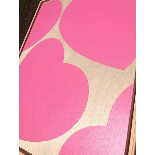 """""""LOVE YOU ALWAYS"""" Original Pink Modern Painting by Artist Tony Curry. Hand Painted on professional cradled wooden fine art..."""