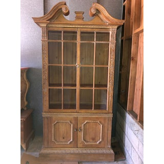 """Broken Pediment"" Style China Cabinet Preview"