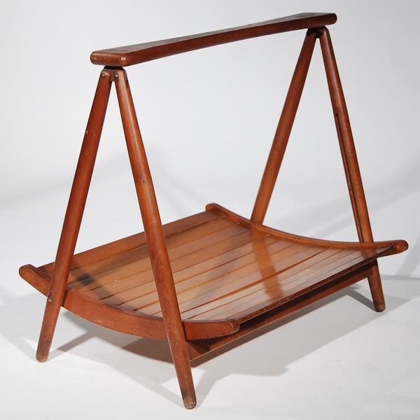 Teak Wood Magazine Tray Holder - Image 2 of 6