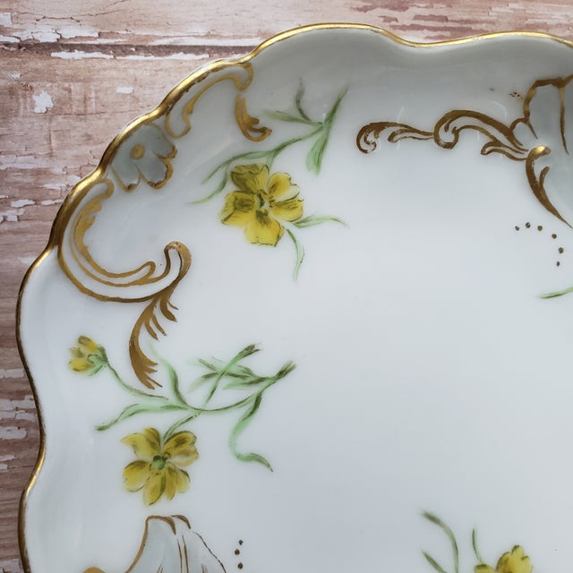Late 19th Century Jean Pouyat Limoges Porcelain Trinket Dish For Sale - Image 5 of 10
