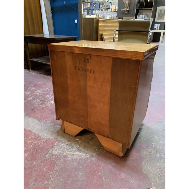 Tan 1960s Kling Blonde Solid Curly Maple Nightstand For Sale - Image 8 of 9