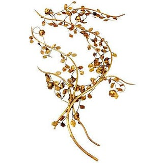 Gilt Leaves Wall Sculpture