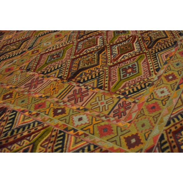"""Vintage Handmade Nakhunak Kilim Rug - 4'5"""" x 5'7"""" For Sale - Image 4 of 7"""