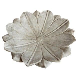 White Marble Lotus Plate