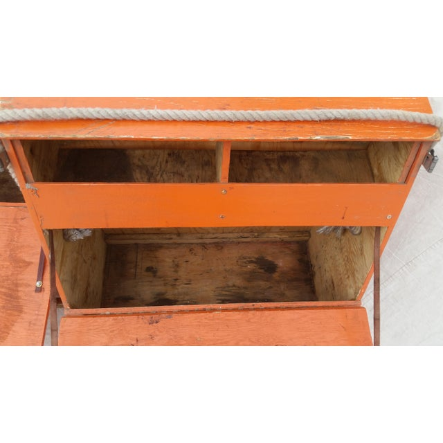 Orange Vintage Western Orange Wood Horse Panniers From a Colorado Ranch - a Pair For Sale - Image 8 of 10