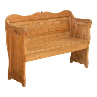 1880s Antique Pine Bench For Sale