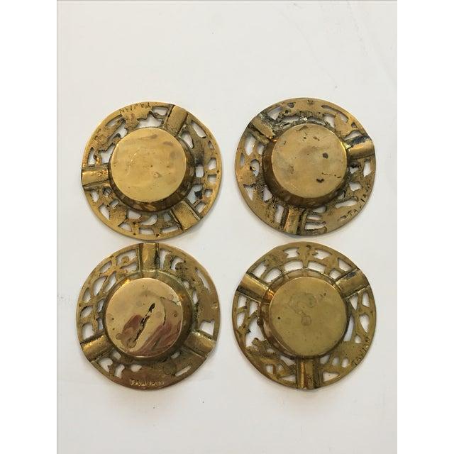 Brass Asian Ashtrays - Set of 4 - Image 8 of 9