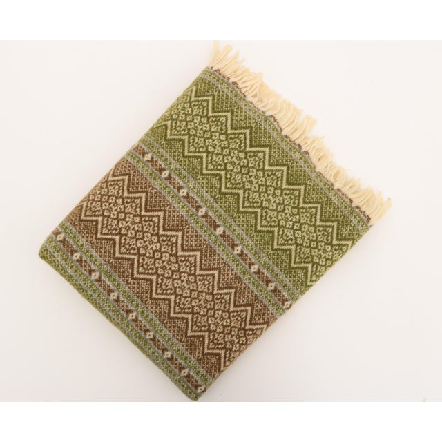 Amana Woolen Mills Fair Isle Wool Blanket For Sale In Madison - Image 6 of 6