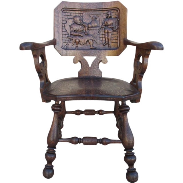 French Antique Pub Armchair For Sale