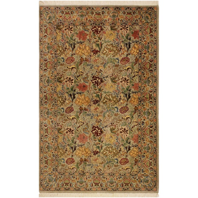 Blue Pak-Persian Jeni Lt. Gray/Gold Wool Rug - 4'1 X 6'2 For Sale - Image 8 of 8