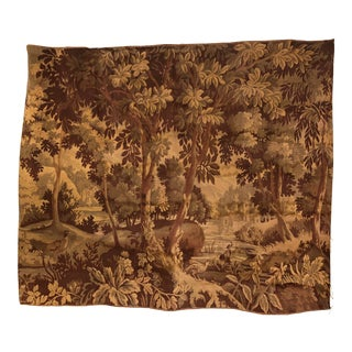 Antique Aubusson Woodland Tapestry For Sale