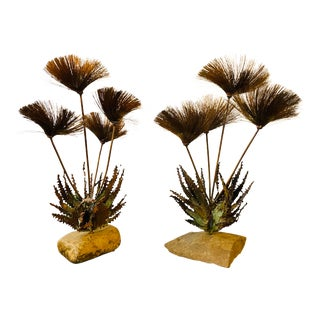 John Steck 1960s Desert Flower Collection Tabletop Sculptures - A Pair For Sale