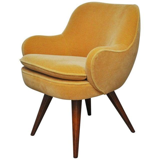 Vladimir Kagan Walnut Frame Lounge Armchair For Sale - Image 11 of 11