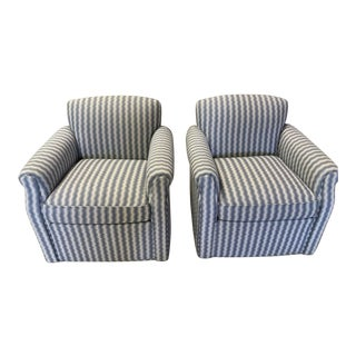 Modern Hickory Chair Company Joseann Swivel Chairs- A Pair For Sale