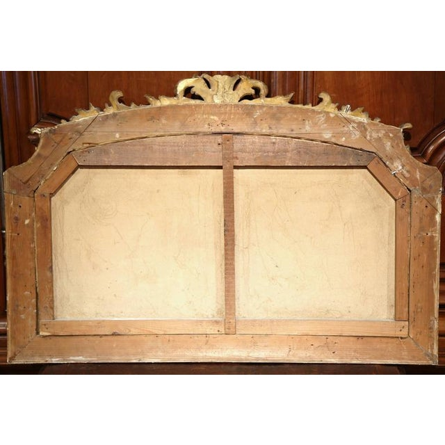 Early 20th Century French Oil Cows Painting in Carved Arched Gilt Frame For Sale - Image 10 of 10