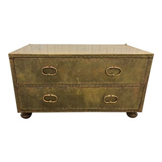 Vintage Hollywood Regency Brass Coffee Table For Sale