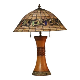 1930s Arts and Crafts Style Table Lamp For Sale
