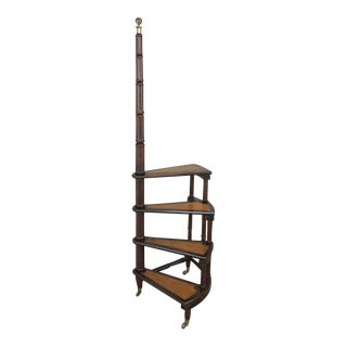 Antique Library Ladder For Sale