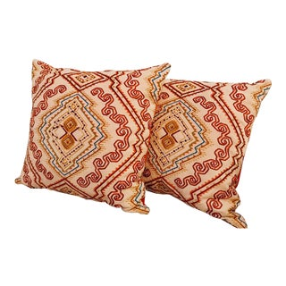 Oscar De La Renta Embroidered Pillows - A Pair For Sale