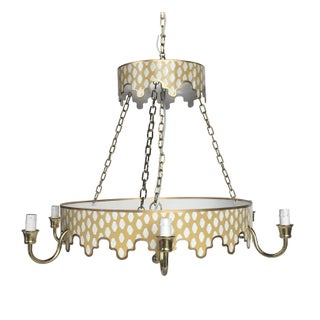 Dana Gibson Taupe Parsi Chandelier For Sale