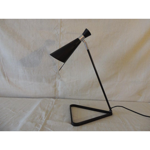 Mid-Century Modern Style Black Metal Desk Lamp For Sale In Miami - Image 6 of 6