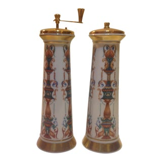 Vintage Lenox Hand Painted 14k Gold Salt & Pepper Shakers