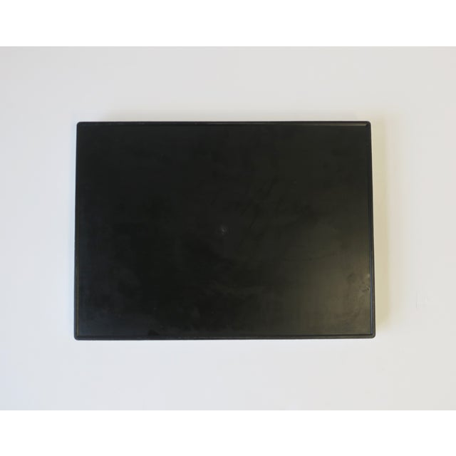White and Black Lacquer Serving Tray For Sale - Image 12 of 13
