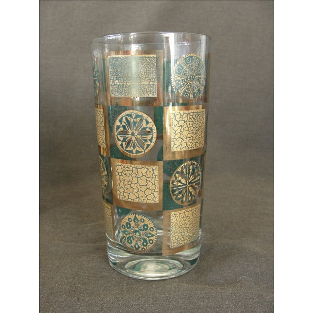 Mid-Century Tumblers With Rack - Set of 9 - Image 6 of 10