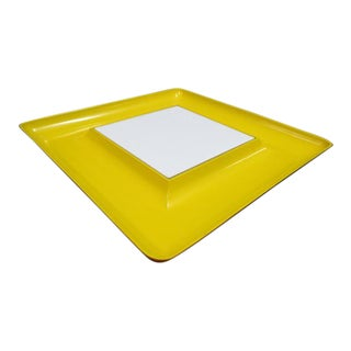 Vintage 1960s Mid-Century Modern Briard Plastic Square Serving Tray For Sale