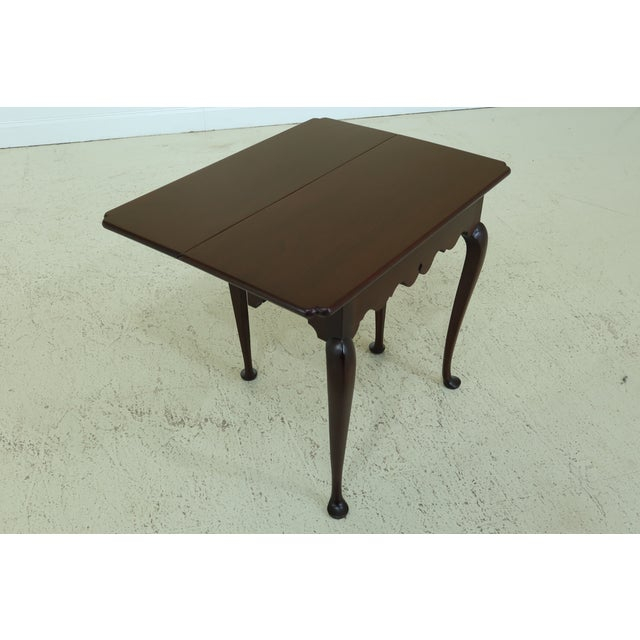 Wood Stickley Colonial Williamsburg Drop Side Mahogany Table For Sale - Image 7 of 11