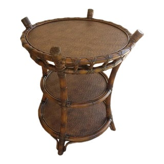 Bentwood Wicker 3 Tier Table Base For Sale