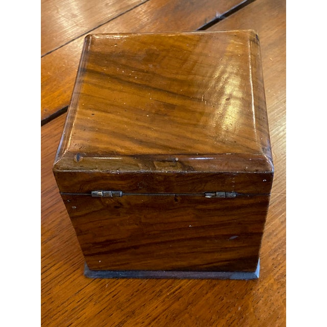 19th Century Antique Mahogany Tea Caddy For Sale - Image 5 of 7