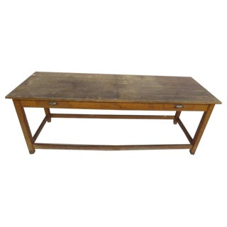 1940's Beech Wood Work Table For Sale