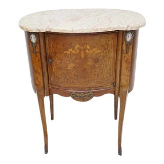 Antique French Side Table With Sevres Placque Inlay For Sale