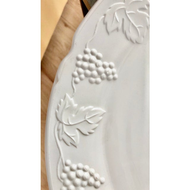 White 1950s Harvest Milk Glass Torte & Serving Plates by Colony - a Pair For Sale - Image 8 of 13