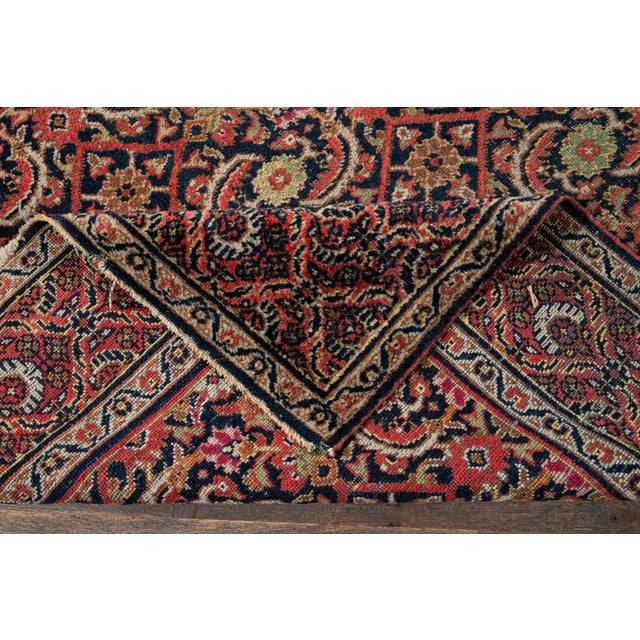 Beautiful Vintage Persian rug with a brownfield in all-over multi medallion design. This rug measures: 3'10'' X 6'4''