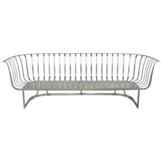 Rare Aluminum Sofa by Russell Woodard