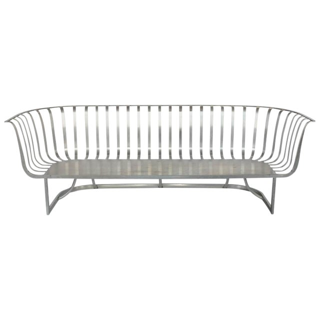 Rare Aluminum Sofa by Russell Woodard - Image 1 of 2