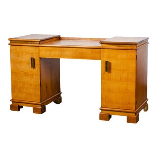1930s Art Deco Donald Deskey for Amodec Vanity Desk For Sale