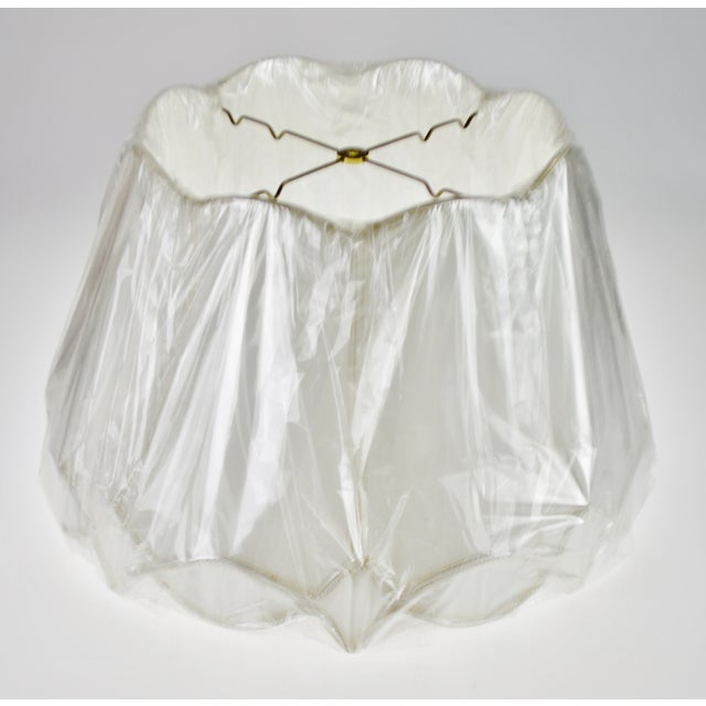 Vintage Nos Silk O Lite Scalloped Edge Lamp Shade For Sale - Image 11 of 13