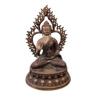 Hindu Bronze Sitting Buddha Sculpture For Sale