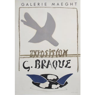 1959 Original Exhibition Poster, Galerie Maeght, Georges Braque For Sale