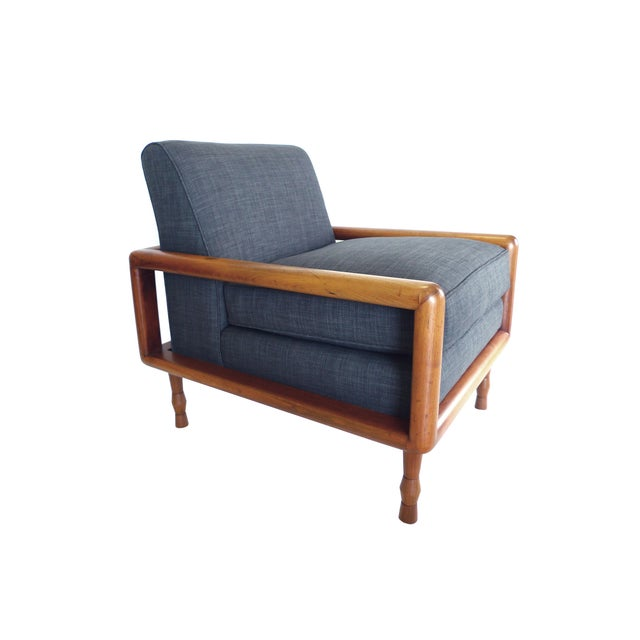 In the Style of T.H. Robsjohn-Gibbings Mid-Century Sofa & Armchair Set - Image 6 of 9